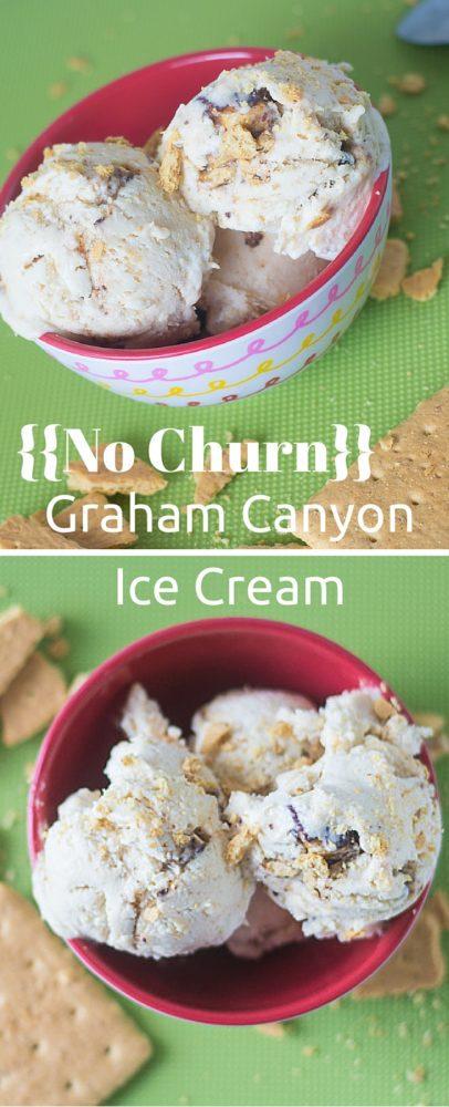 No churn graham canyon ice cream - BYU copycat! via @clarkscondensed
