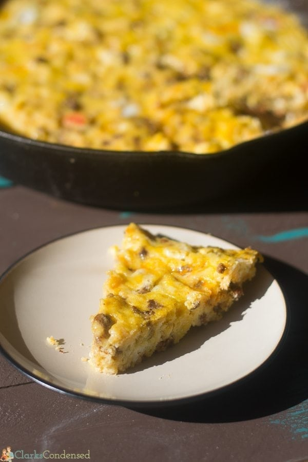 This easy chorizo breakfast casserole recipe is sure to take your taste buds on a culinary adventure with the spiciness of the chorizo and green chile!