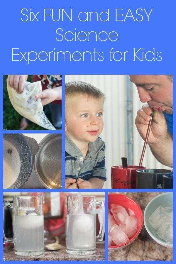 Six fun and easy science experiments for kids - these are a great way to prevent summer brain drain!