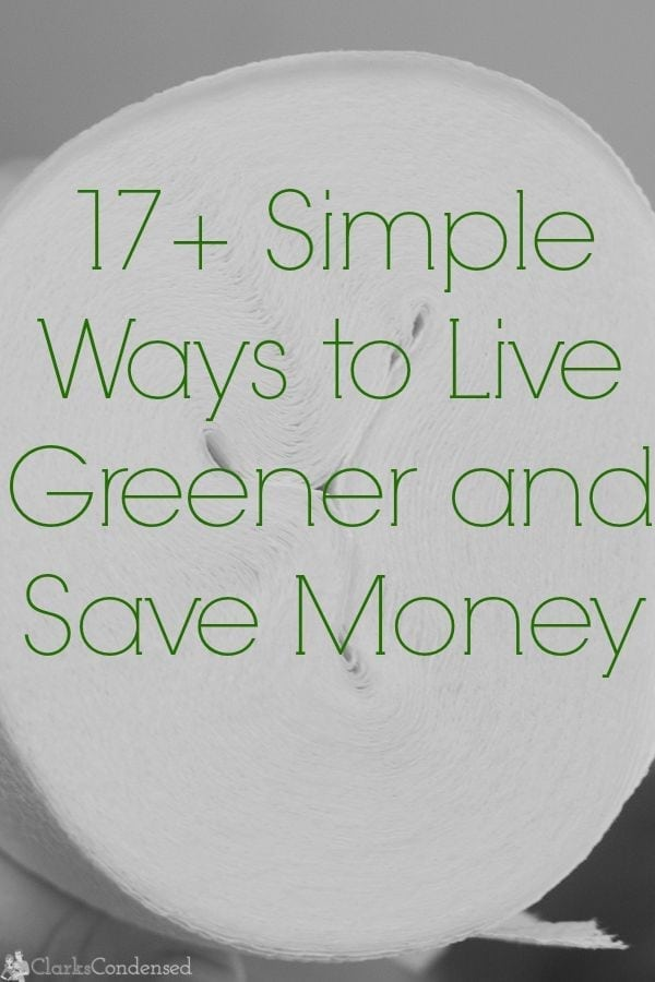 It doesn't take a lot to help the environment - here are 17+ simple ways to live green and even save some money and energy along the way. These are easy and things you can do without really thinking about it!