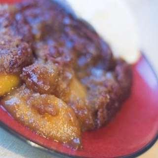 Chai Peach Cobbler