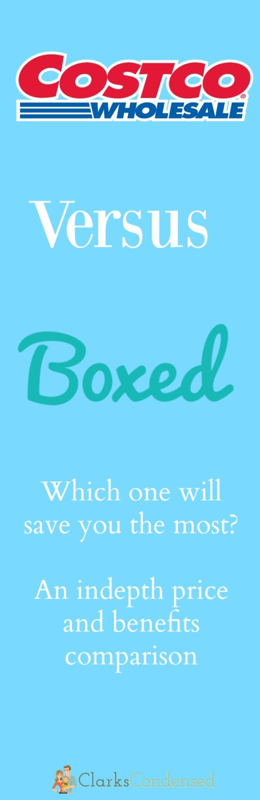 A comparison of Costco and Boxed.com - a new online big box store! Which one is going to save you the most time and money? Read on to find out what I found!