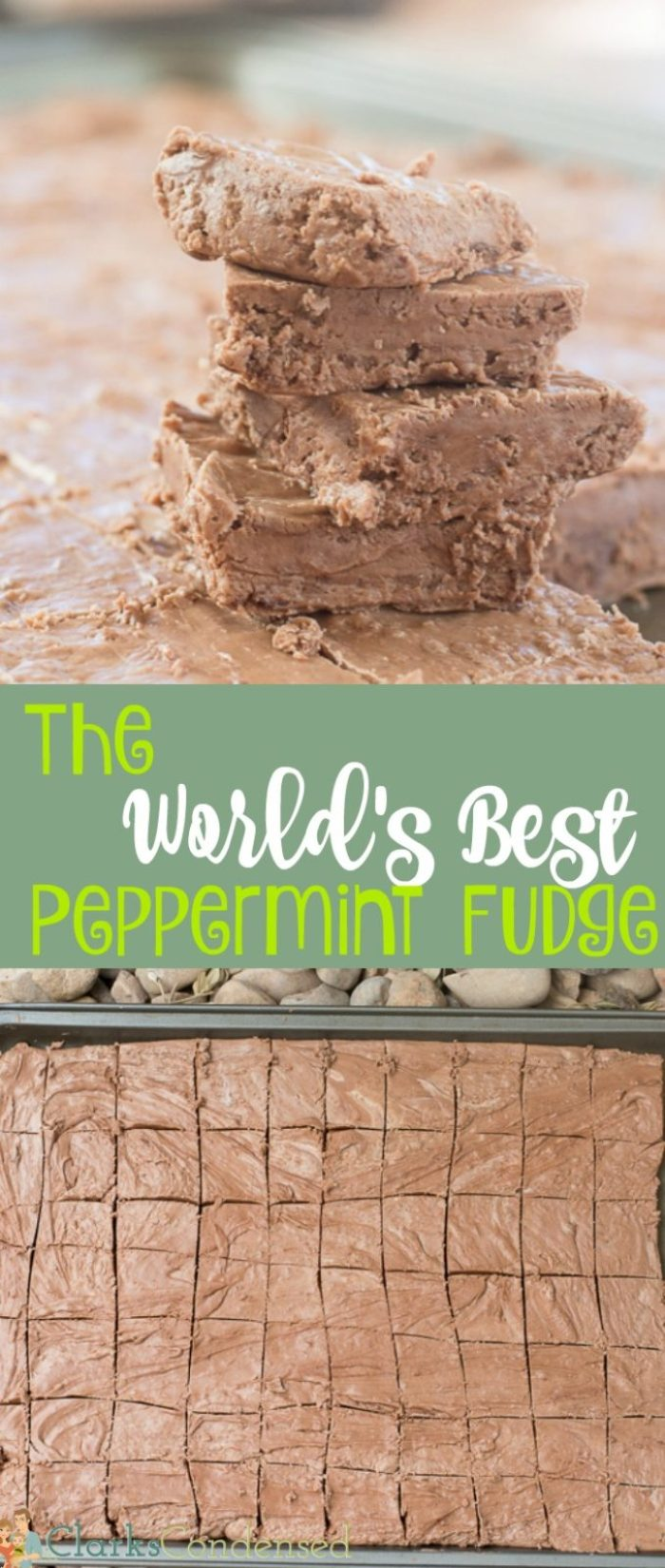 This peppermint fudge recipe has been passed down in my family, and it's always a favorite during the holidays. It's very easy to make and very yummy. Everyone loves it - it is definitely the world's best peppermint fudge recipe!