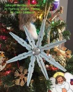 Clothespin Christmas Snowflake