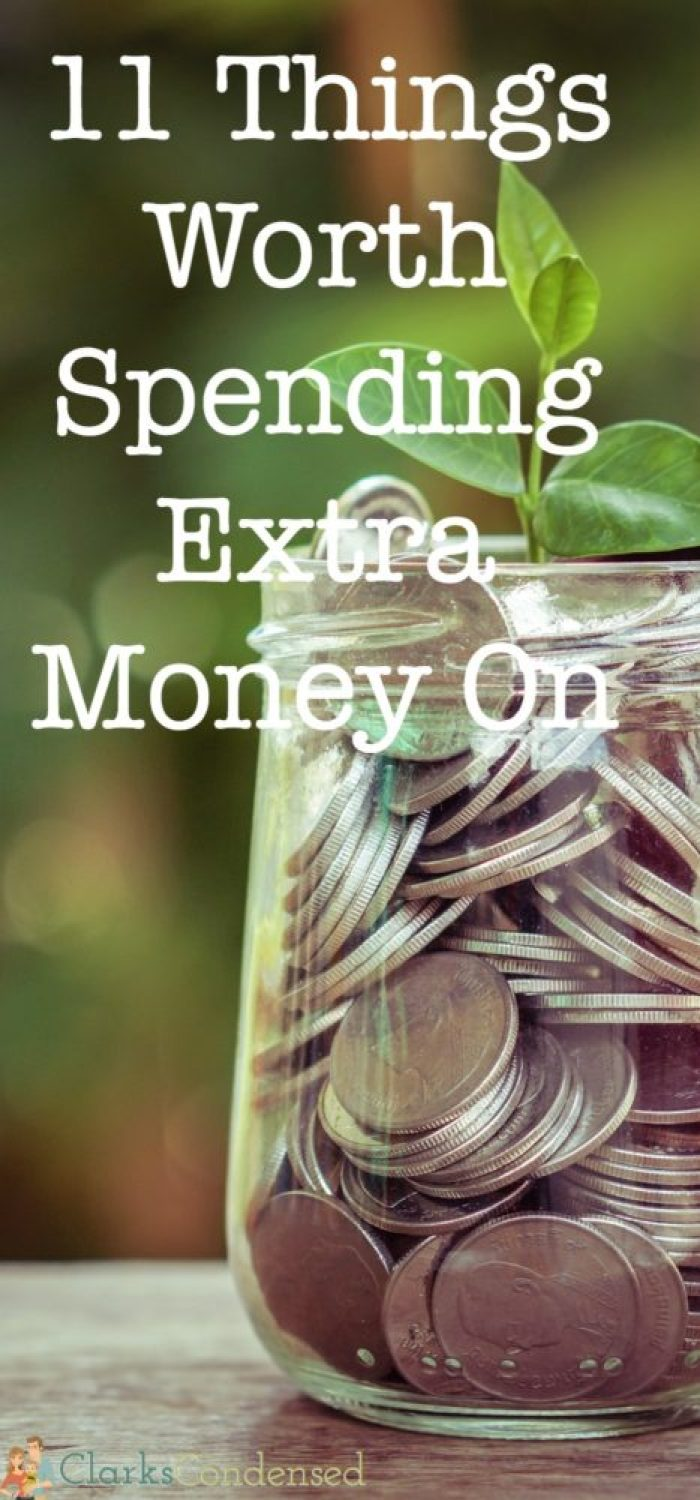 While it's good to save money and be frugal, sometimes it's worth it to spend a little extra money. Here are 11 things that I feel are.