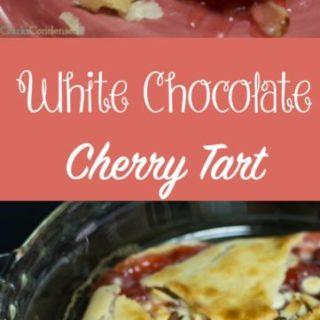 White Chocolate Cherry Tart