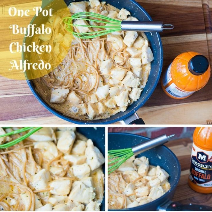 One Pot Buffalo Chicken Alfredo Recipe