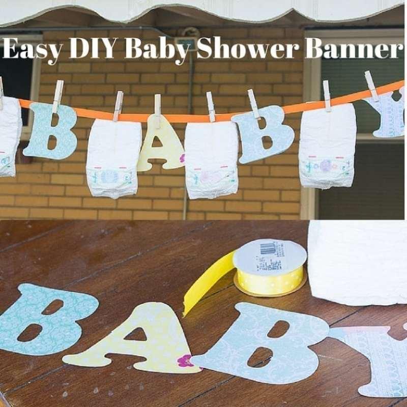 Easy DIY Baby Shower Banner (1)