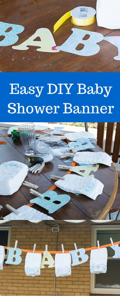 SO CUTE! This DIY Baby Shower Banner is adorable! via @clarkscondensed