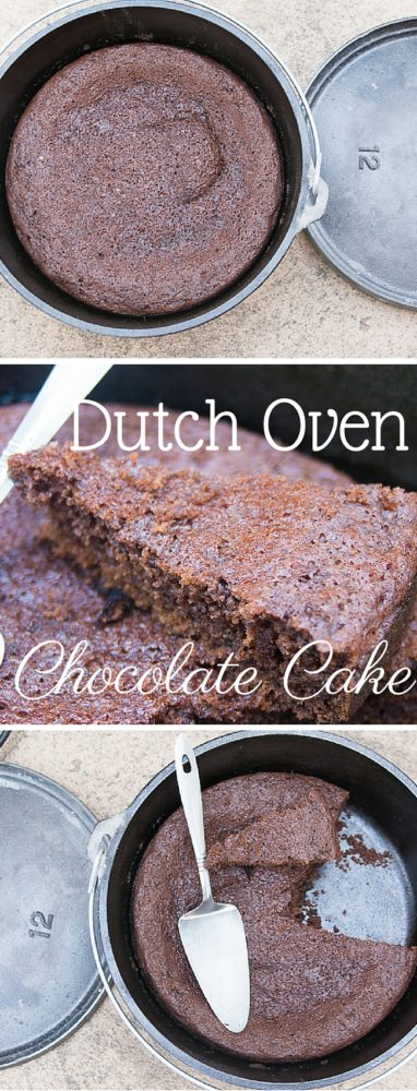 This amazing dutch oven chocolate recipe is moist, decadent, and every bite is oozing with flavor. It's the BEST dutch oven recipe to have in your repertoire.  via @clarkscondensed