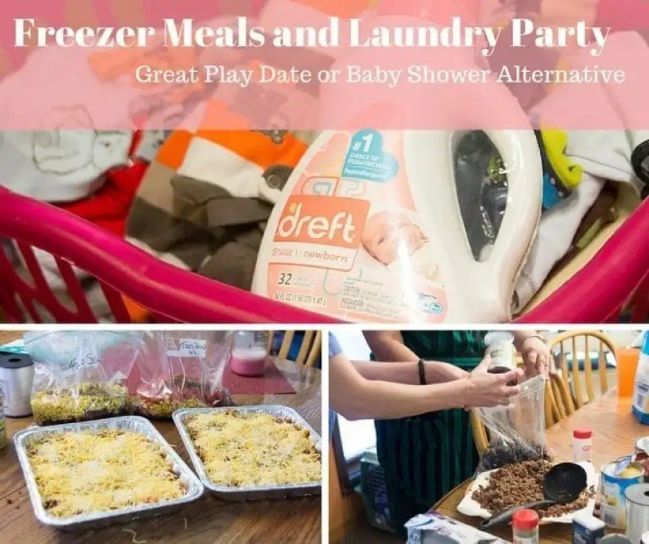 Freezer Meals and Laundry Party