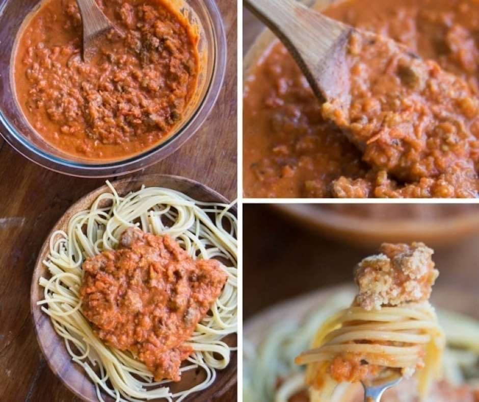 This easy bolognese sauce is a thick, tomato-based sauce is filled with sauteed vegetables, sausage, and other fantastic flavors. It's the most amazing sauce your pasta will ever have on it!