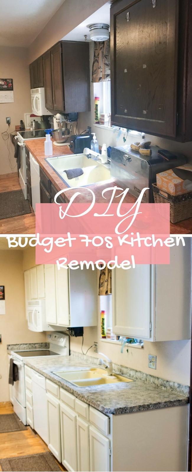Budget 70s Kitchen Remodel