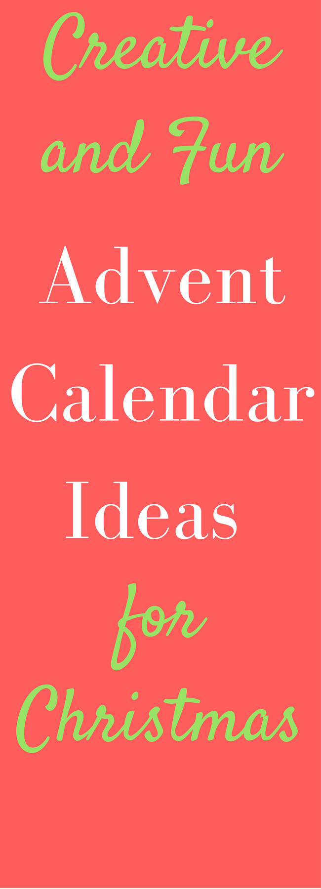 Advent calendar ideas for Christmas for kids, adults, and everyone in between!