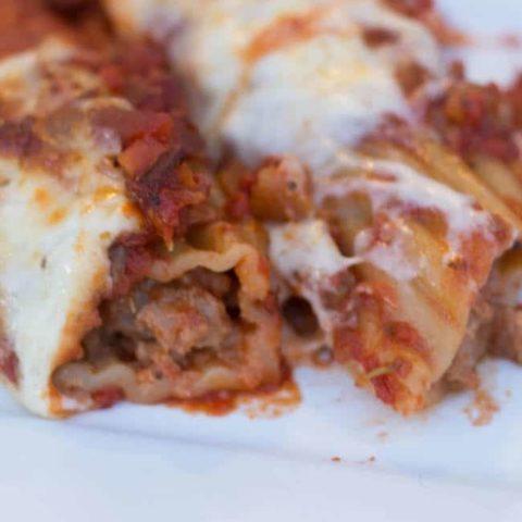 Copycat Olive Garden Giant Sausage Stuffed Rigatoni Recipe