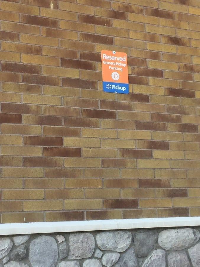 walmart grocery pickup parking spot