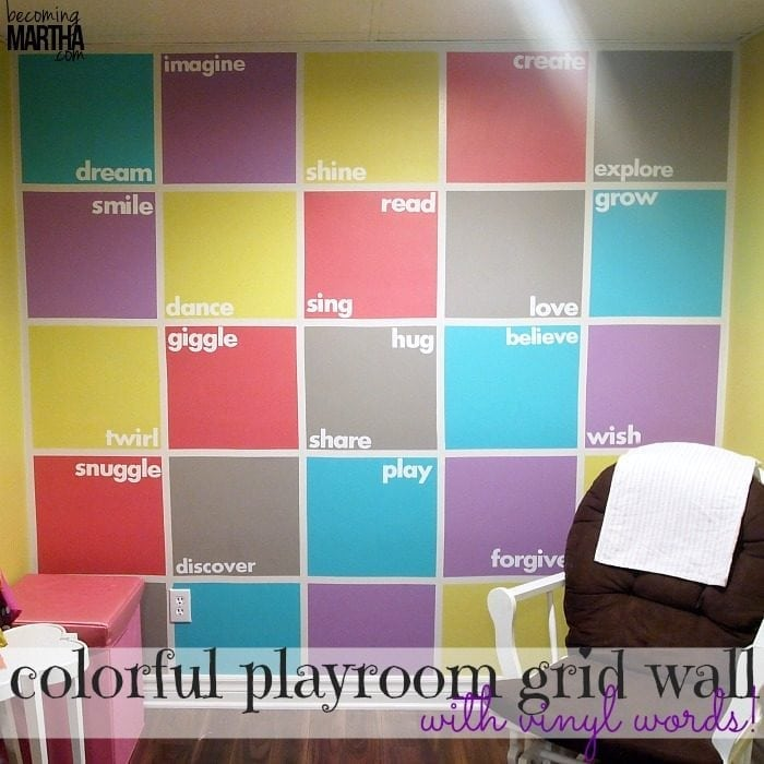 colorful grid wall