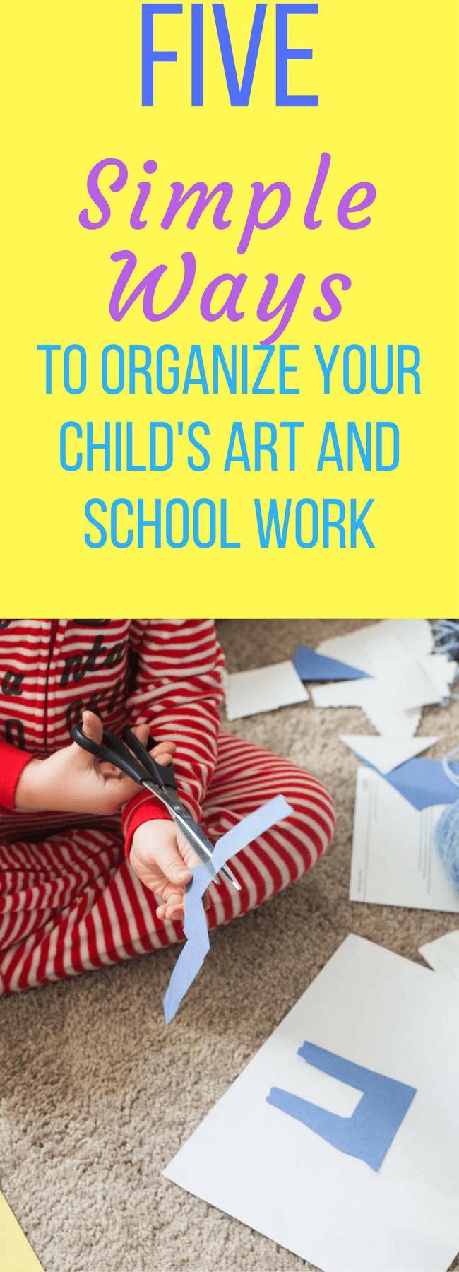 Organize artwork / organize kid's papers / organization / back to school / school organization / preschool tips / homeschool / organize home via @clarkscondensed