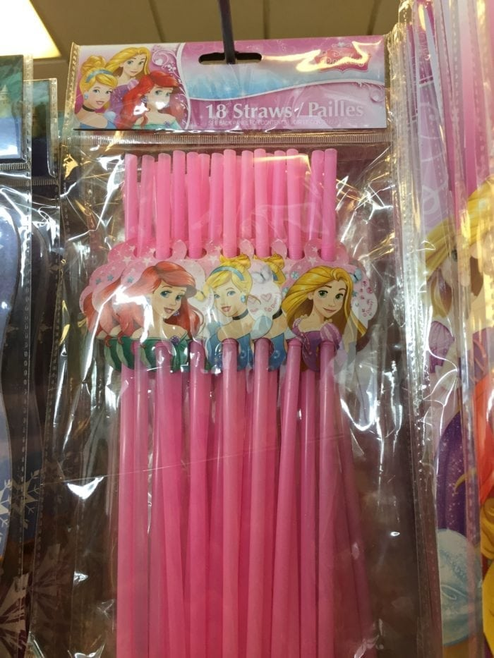A group of princess toys on display