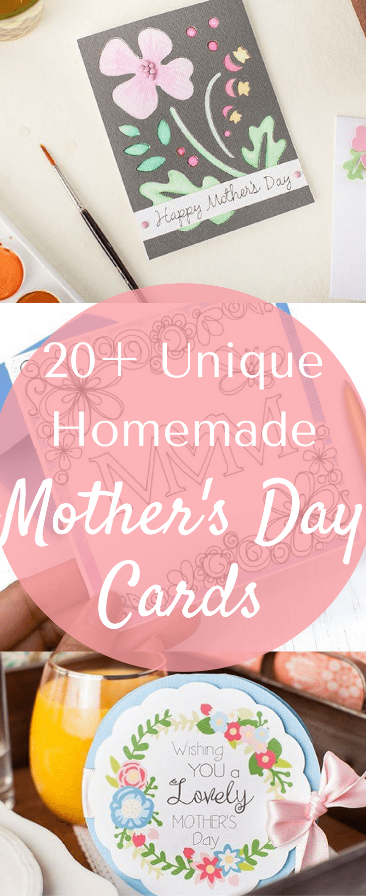 Homemade Mother's Day Cards / MOther's Day Ideas / DIY Mother's Day Cards / Cricut Mother's Day Cards / Cricut Paper Projects / Cricut Project Ideas / Paper Crafts / Paper Crafts / Homemade cards