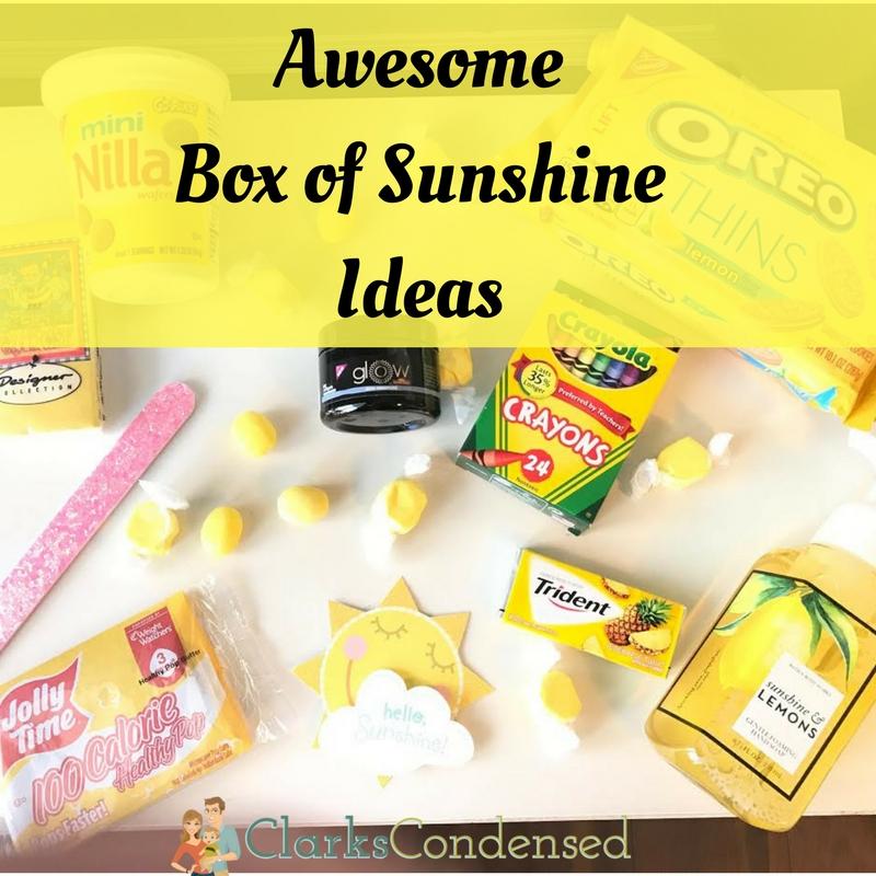 Awesome Box of Sunshine Ideas.