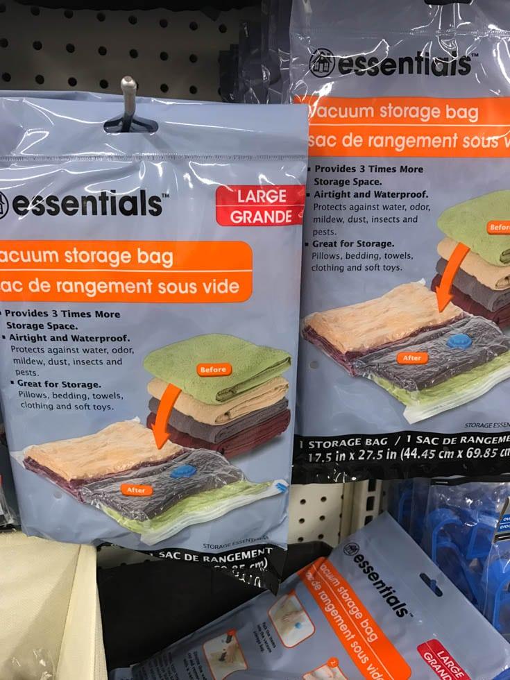 dollar tree vacuum storage bag