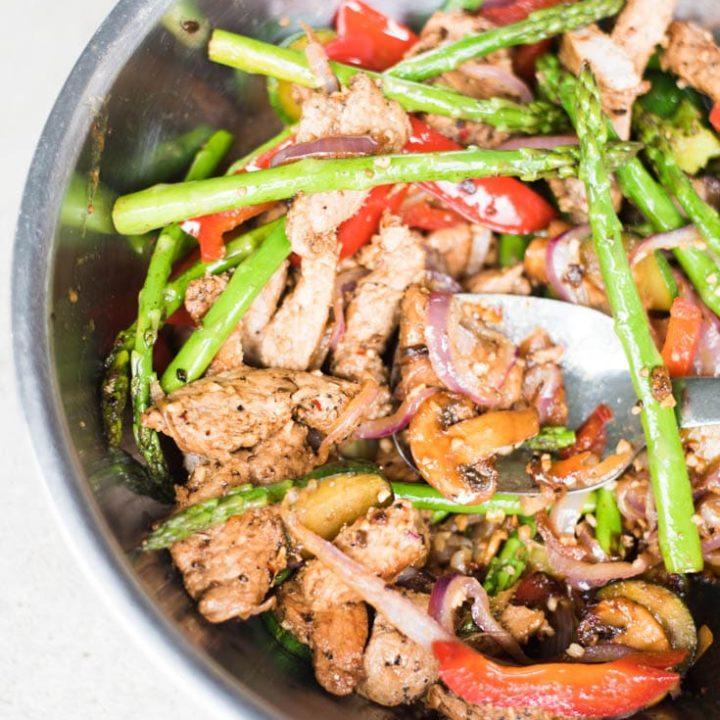 Easy Low Carb Pork Stir Fry with Veggies