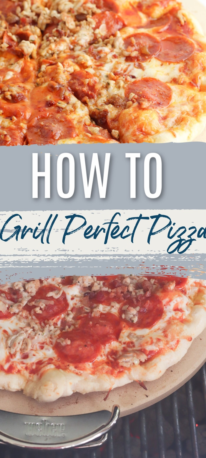 How to Make Pizza on the Grill / Grilled Pizza / Grilling pizza / Pizza on the Grill / Outdoor Pizza / HOmemade Pizza via @clarkscondensed