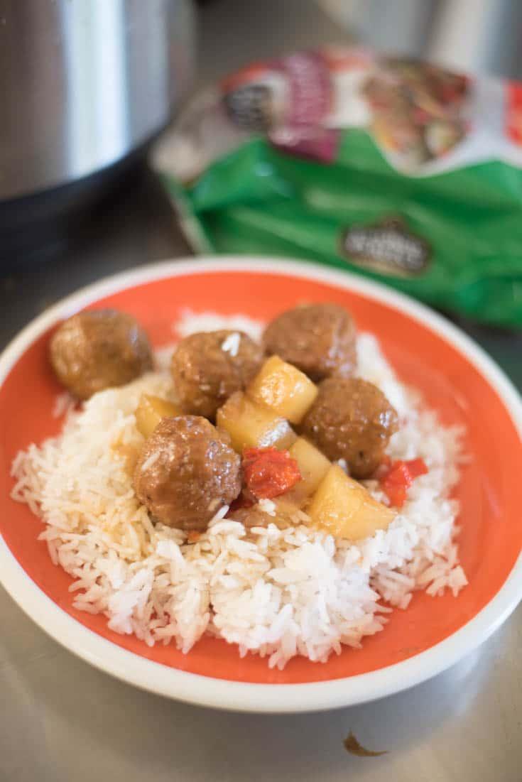 Instant Pot Hawaiian Meatballs
