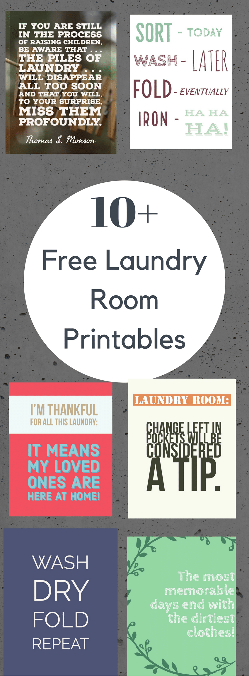 FREE Printable Laundry Signs / Laundry Room Signs / Laundry Room Decor / Laundry Room Printables / Printable Laundry Room Sign via @clarkscondensed