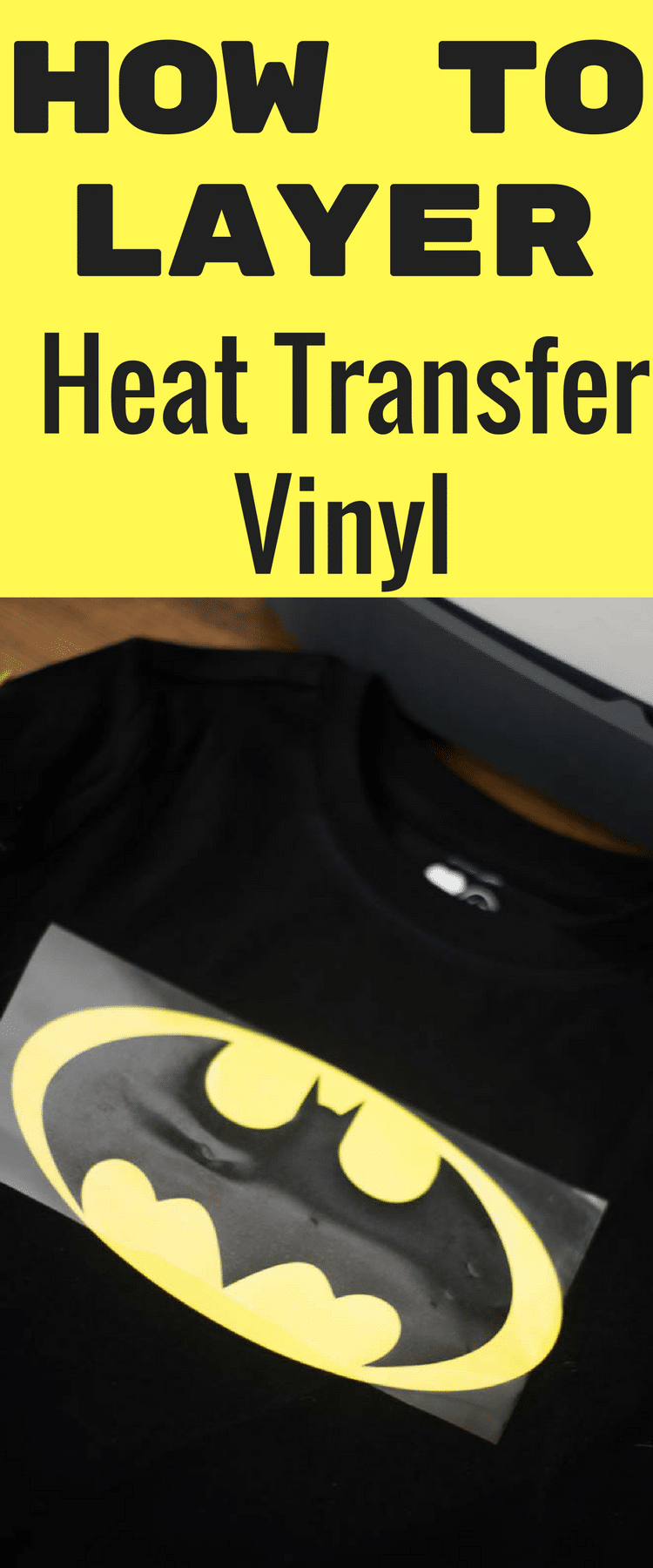 how to layer heat transfer vinyl cricut design space / cricut tips / cricut designs / vinyl / iron on vinyl / cricut explore air / cricut maker