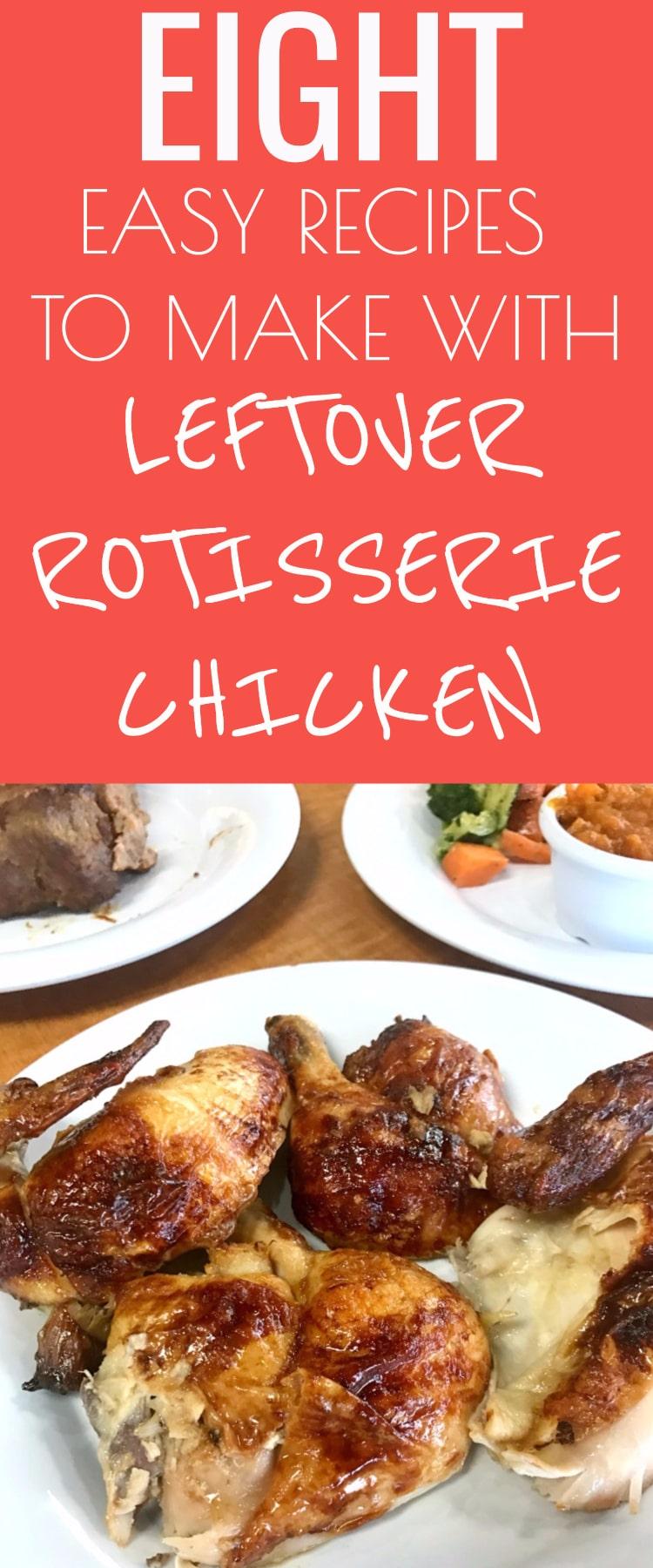 Leftover Rotisserie Chicken Recipes / Rotisserie Chicken / Leftover Rotisserie Chicken / #chicken #homemade #dinner #food #easyrecipes via @clarkscondensed