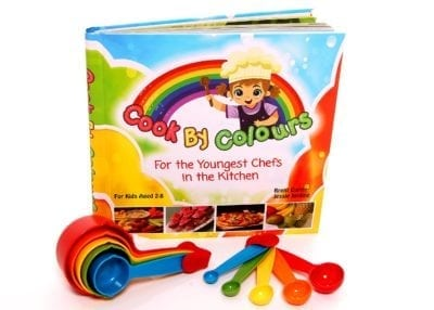 Cook by colours, coloring book