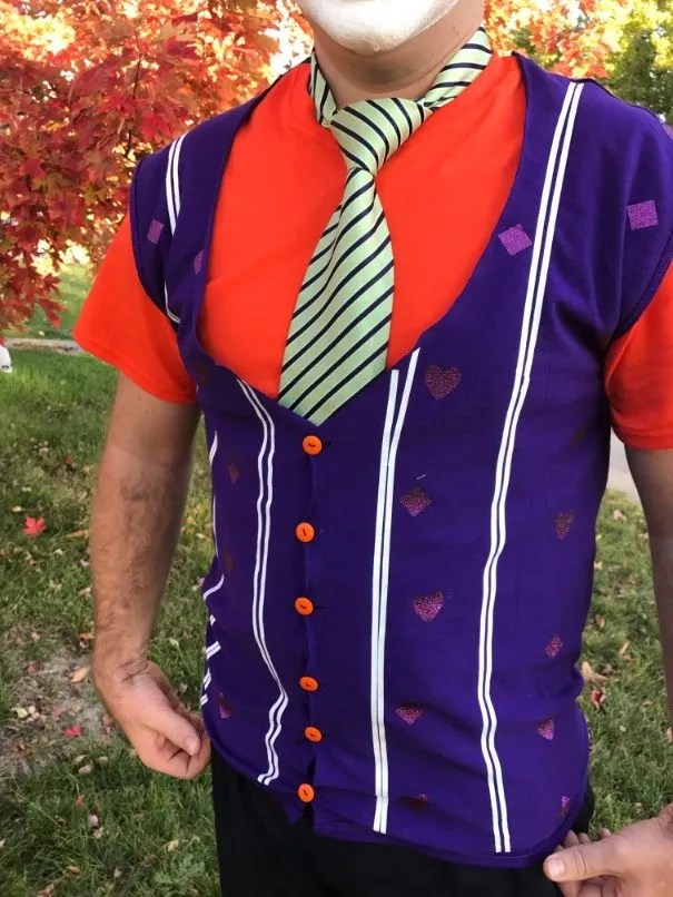 DIY Joker Vest and Shirt