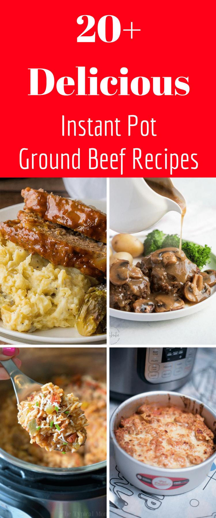 Ground Beef Instant Pot Recipes via @clarkscondensed