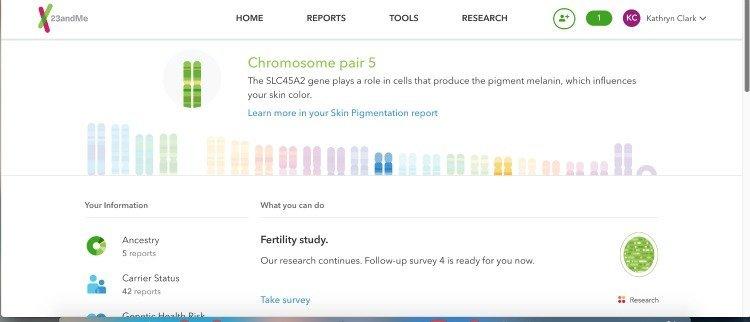 chromosone results