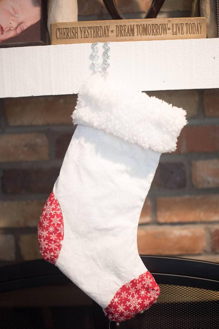 cricut white stocking
