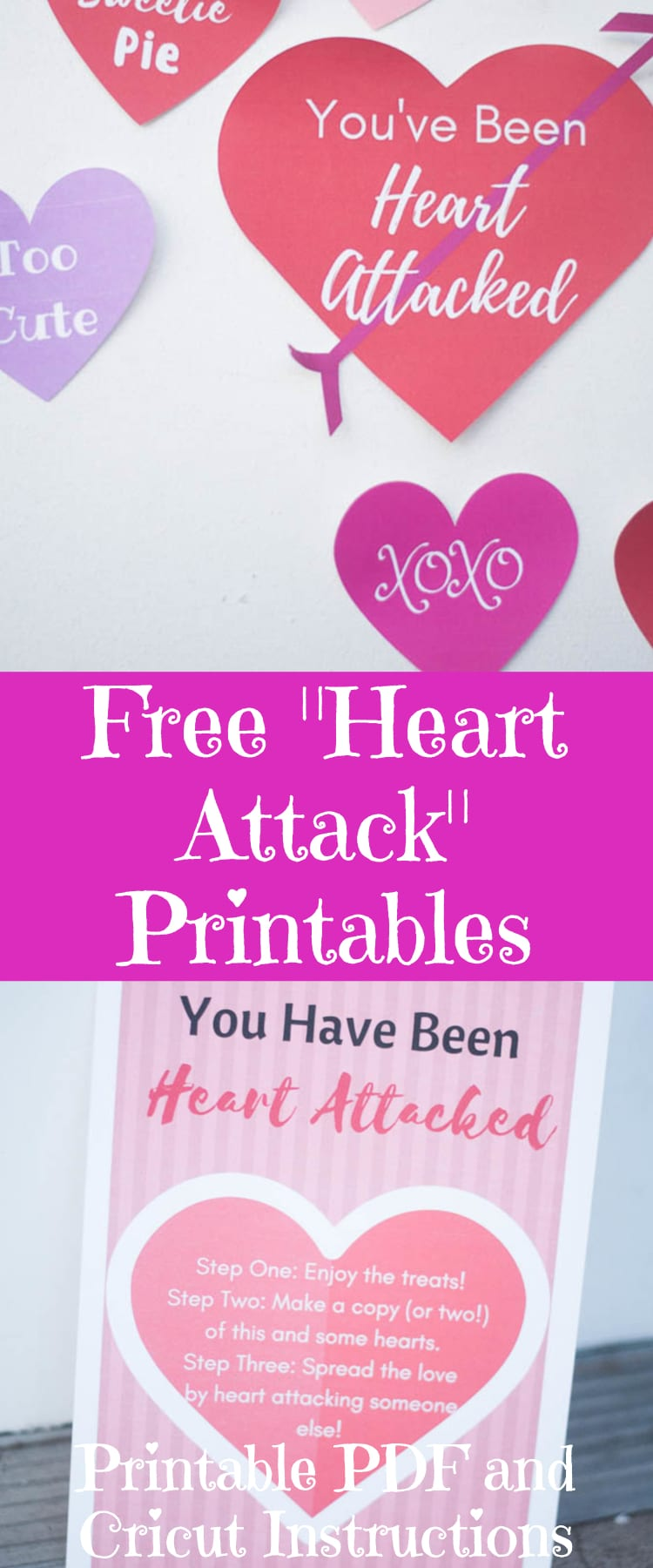 Free Heart Attack Printables / Valentine's Day Printable / Love Printables / Cricut Hearts / Cricut Valentine's Day
