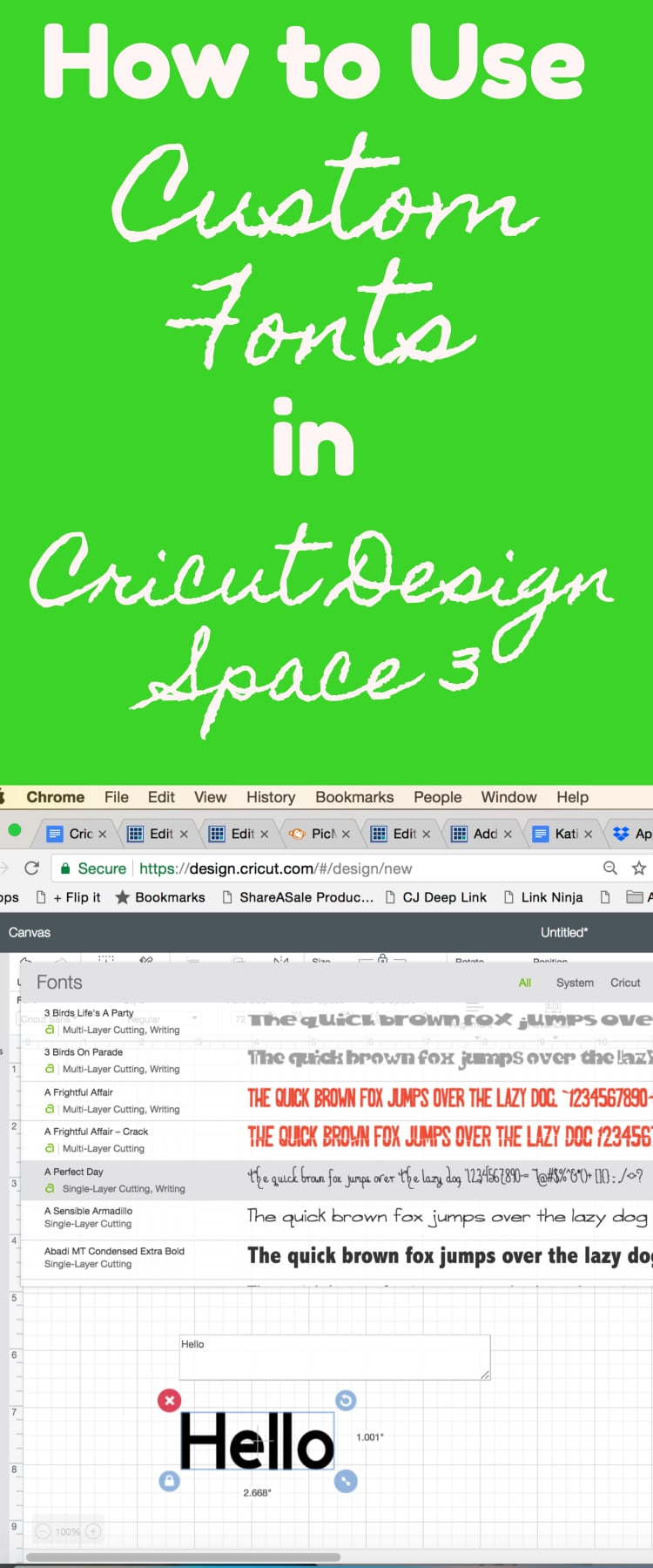 How to Add Fonts to Cricut Design Space 3