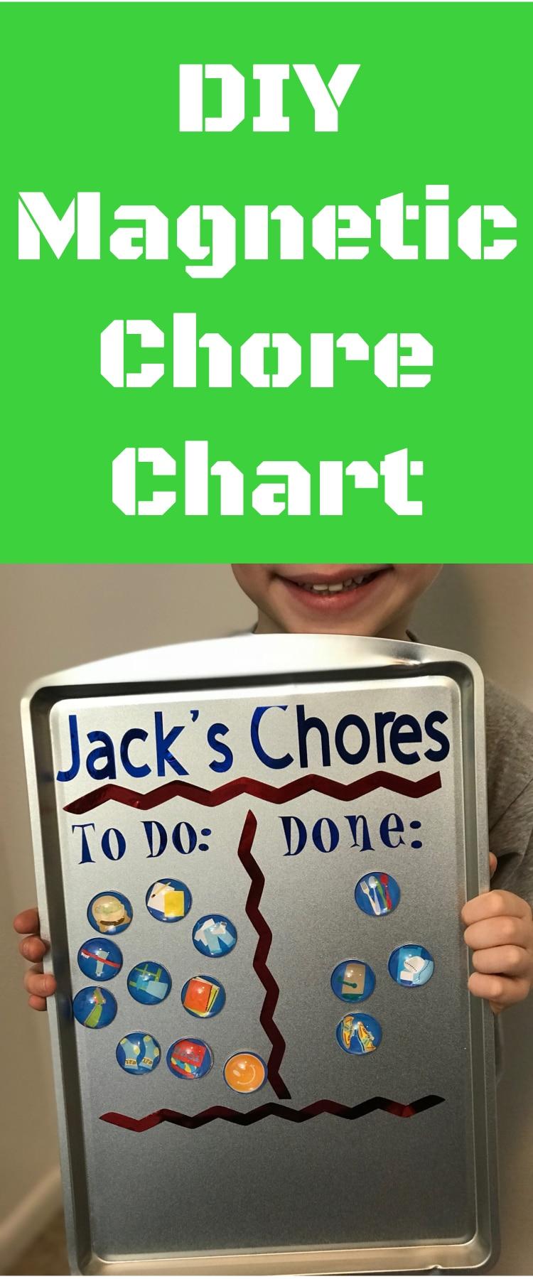 Chore Chart / DIY Chore Chart / Magnet Chore Chart / Cricut Chore Chart / Cricut Crafts #DIY #CricutMaker #CricutExploreAir via @clarkscondensed