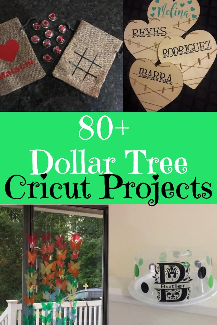 Dollar Tree Cricut Projects / Dollar Tree Crafts / Dollar Tree Projects / Dollar Store Crafts / Cricut Project Ideas / Cricut Maker / Cricut Explore Air / #cricutmaker #cricutmade #cricutexploreair #dollarstore #dollartree