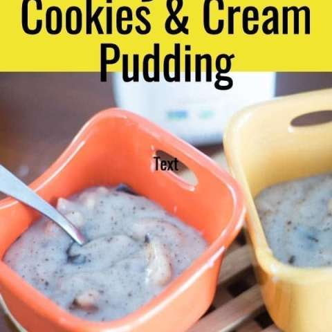 Dairy Free Cookies and Cream Pudding
