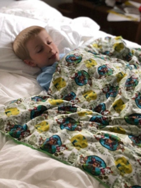 Toddler weighted blanket