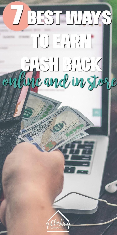 make money / cash back / save money / frugal living / thrifty living / money #money #moneysaving #savemoney #tips #life via @clarkscondensed