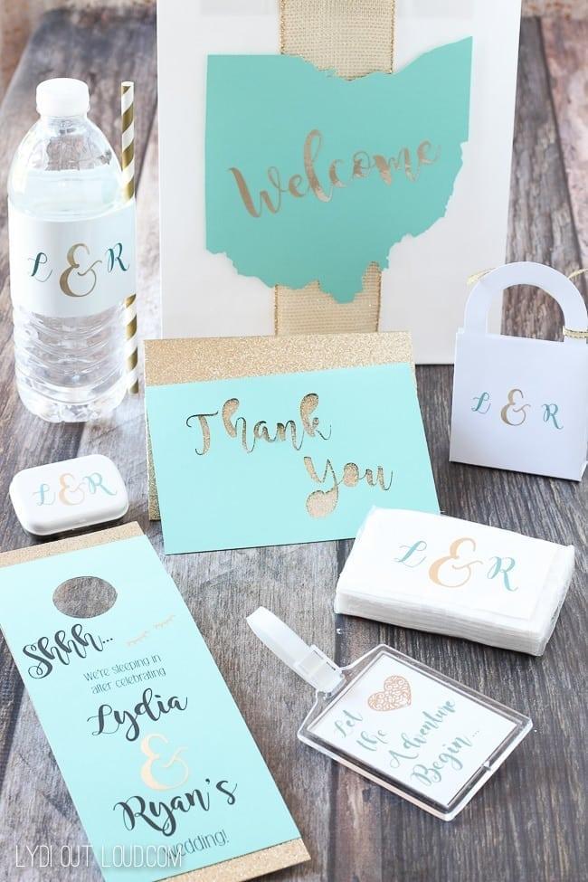 Wedding and Cricut Thank you card