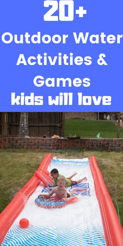 Water Games for Kids / Water Activities for Kids / Outdoor Activities for Kids / Summer Time / Summer Activities for kids #water #waterplay #sensoryplay #outdoor #summertime #toddler via @clarkscondensed