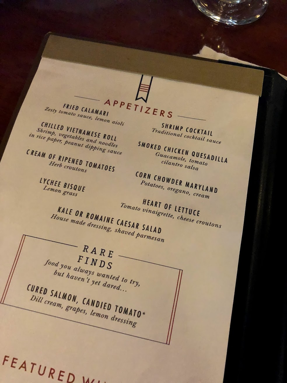 carnival cruise food menu
