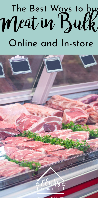 Save money on meat / buy meat in bulk via @clarkscondensed
