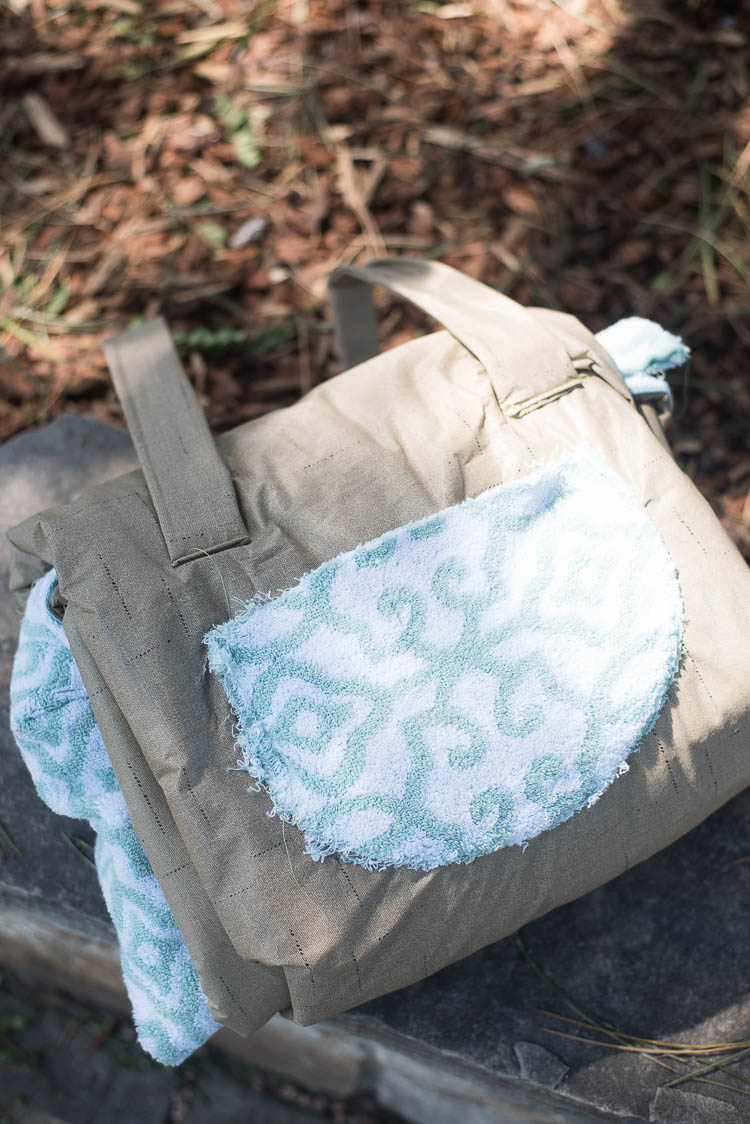 Beach Bag that Turns Into a Towel