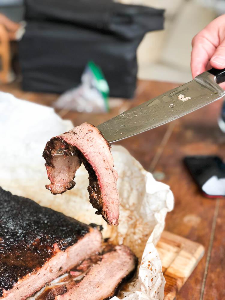 how to slice brisket